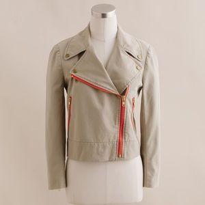 Jcrew trench Moto jacket size 4